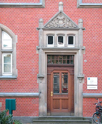 Rathaus Düsseldorf-Eller, Eingang